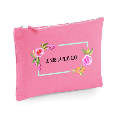pochette multi-usage rose aquarelle personnalisée