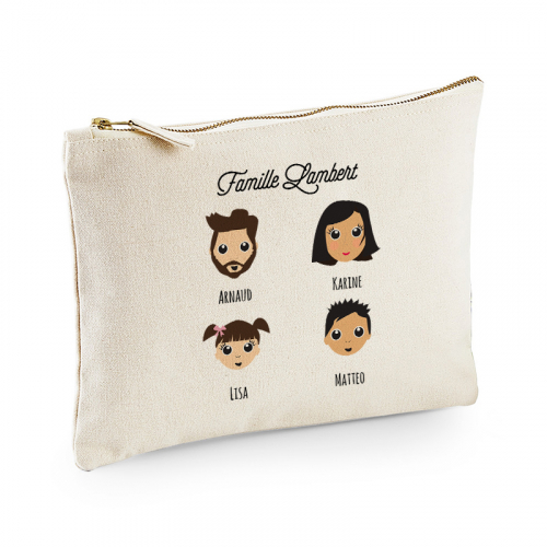 Pochette personnalisée We are family