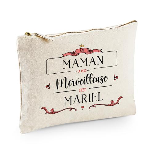 Pochette personnalisée Merveille Maman