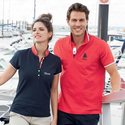 Polo sport brodé pour homme ou femme