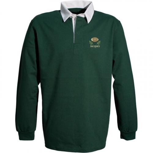Polo de rugby personnalisé vert
