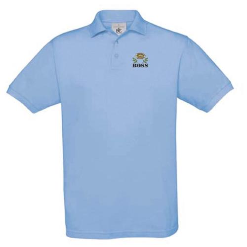 Polo à manches courtes personnalisé bleu
