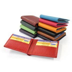 Porte cartes et billets en cuir