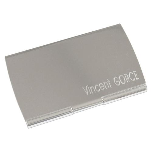 Porte cartes de visite arrondi gravé