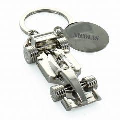 Porte-clés Formule 1 gravé
