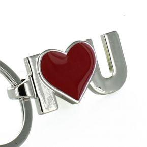 Porte-clés I Love U Red