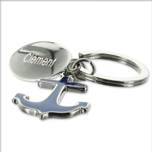 Porte clés ancre gravé