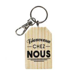 Porte-clés Bienvenue chez nous personnalisé