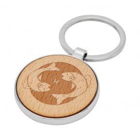 Porte-clés Signe Astrologique en bois