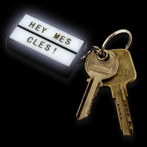 Porte-clés boite lumineuse