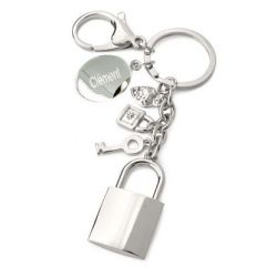 Porte-clés breloques gravé