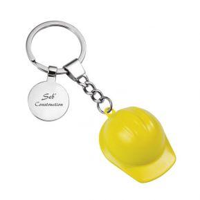 Porte-clés casque de chantier personnalisé