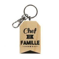 Porte-clés Chef de famille personnalisé