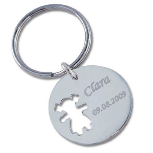 Porte-clés chérubin ajouré fille