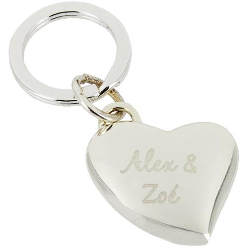 Porte-clés coeur love rouge personnalisé