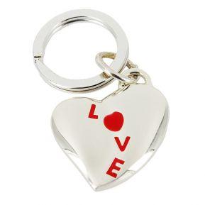 Porte-clés coeur love rouge