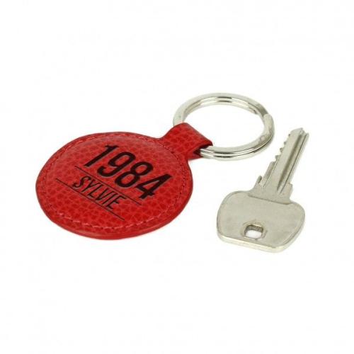 Porte-clés anniversaire en cuir