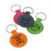 Porte-clés cuir rond gravé d'un prénom
