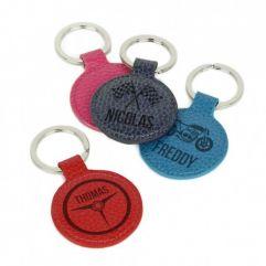 Porte-clés de voiture en cuir gravé