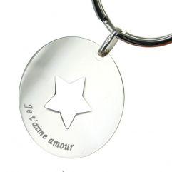Porte-clés étoile personnalisé