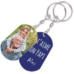 Porte-clés photo fête des grand-pères