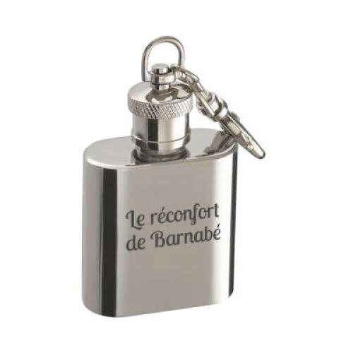 Porte-clés flasque gravé