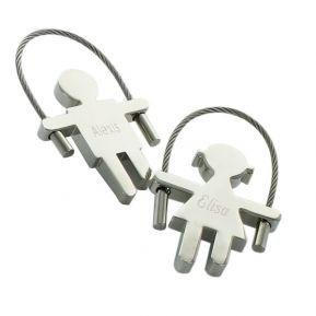 Porte-clés corde à sauter gravé