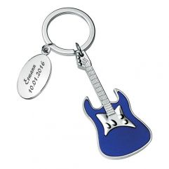 Porte-clés guitare gravé