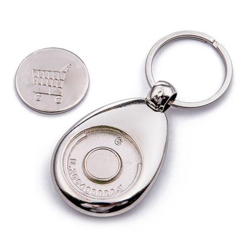 Porte-clés jeton de caddie personnalisé photo