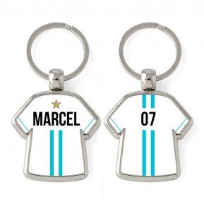Porte-clés Maillot 2 bandes personnalisé prénom