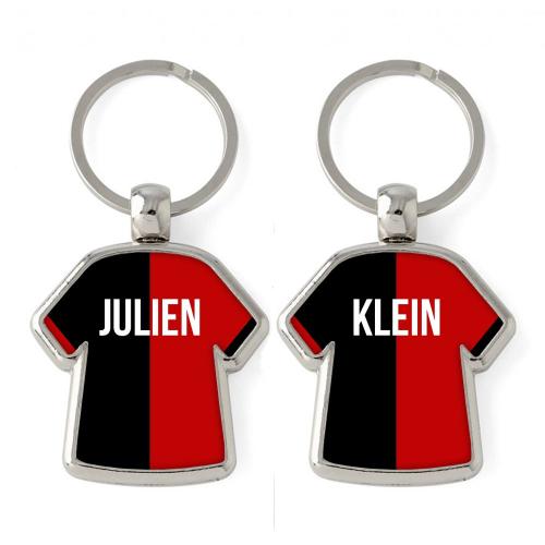 Porte-clés Maillot bicolore personnalisé prénom