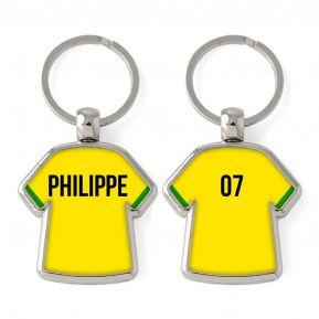 Porte-clés Maillot uni personnalisé prénom