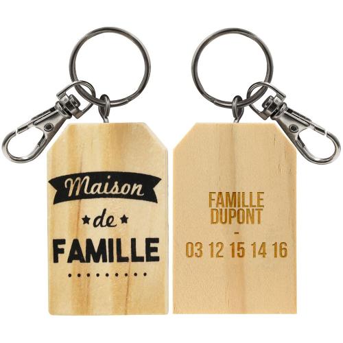 Porte-clés maison de famille personnalisé