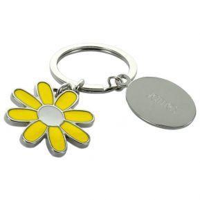 Porte-clés marguerite personnalisé