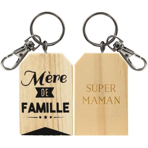 Porte-clés mère de famille personnalisé