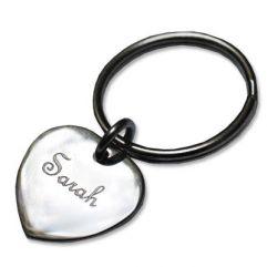 Porte-clés petit coeur gravé