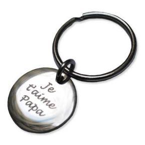 Porte-clés petit rond gravé