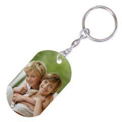 Porte-clés plaque photo imprimée