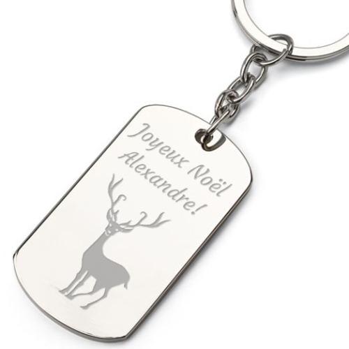 Porte-clés plaque de Noël