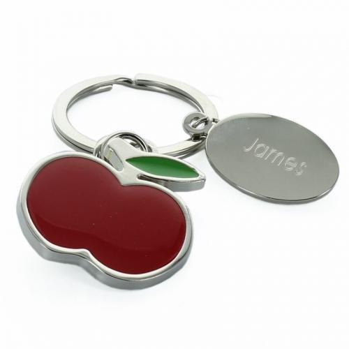 Porte clé pomme gravé