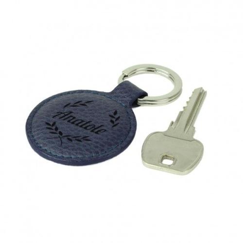 Porte-clés prénom en cuir