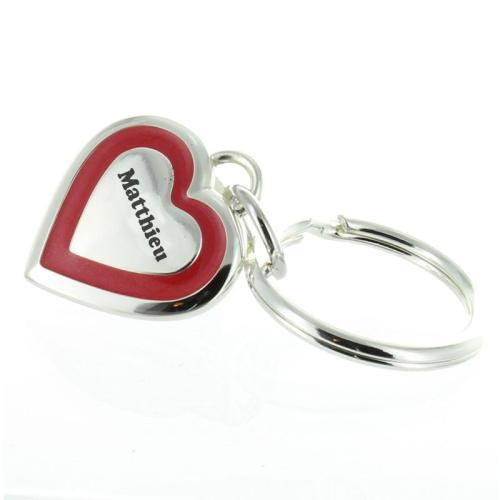 Porte clés Saint Valentin gravé