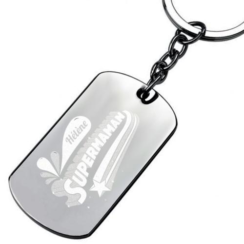 Porte-clés plaque SuperMaman