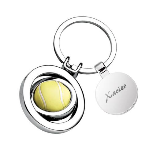 Porte-clés balle de tennis personnalisé