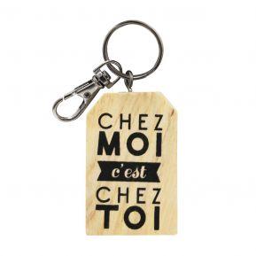 Porte-clés chez moi personnalisé
