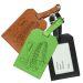 Porte-étiquette de bagage en cuir gravé Super Papa