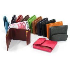 Porte monnaie et billets en cuir