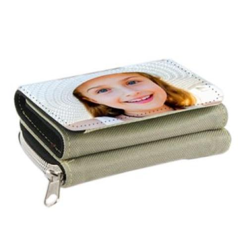 Portefeuille  beige 2 en 1 personnalisé photo