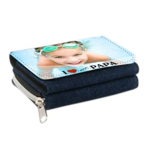 Portefeuille papa jeans 2 en 1 personnalisé photo