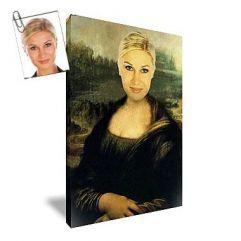 Portrait femme oeuvre d'art personnalisé